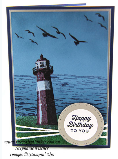 Stampin Up, SU,  2017 Occasions Catalogue, Sneak Peek, High Tide, Masculine card, Stampin Up Australia Demonstrator, Stephanie Fischer, Sydney NSW, #thecraftythinker, #crazycraftersprojecthighlights