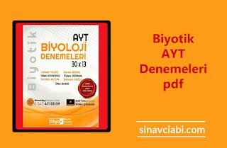 Biyotik AYT Denemeleri pdf