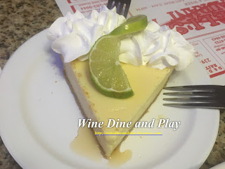 Not very Italian but very Florida was the key lime pie at Miceli's in Matlacha, Florida