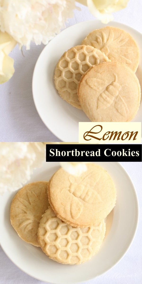 Lemon Shortbread Cookies #Cookiesrecipes