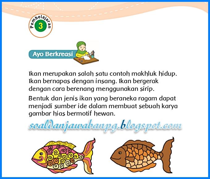 Jenis Ikan Gambar Hias Bermotif Hewan Kunci Jawaban Buku Tematik Kelas 3 Tema 1 Subtema 3 Halaman 119 121 122 123 Soal Dan Jawaban