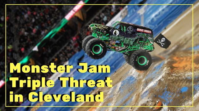 Monster Jam Triple Threat Series Thunders into Cleveland (Photos)