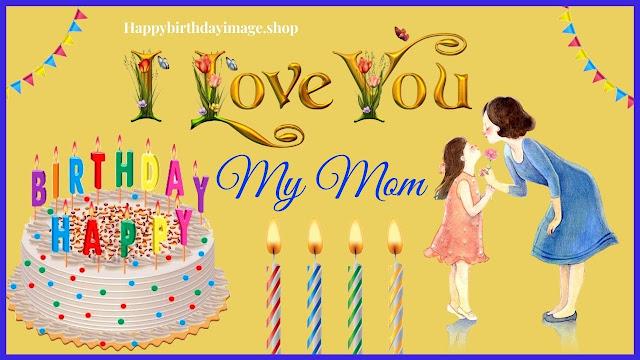 happy birthday in heaven mom images