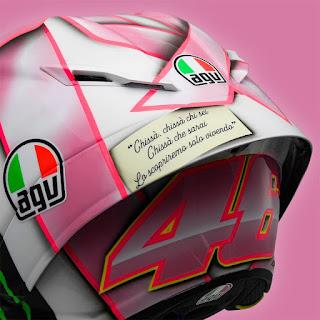 Helm Valentino Rossi Edisi Khusus GP Misano 2021, Pink Bro !!