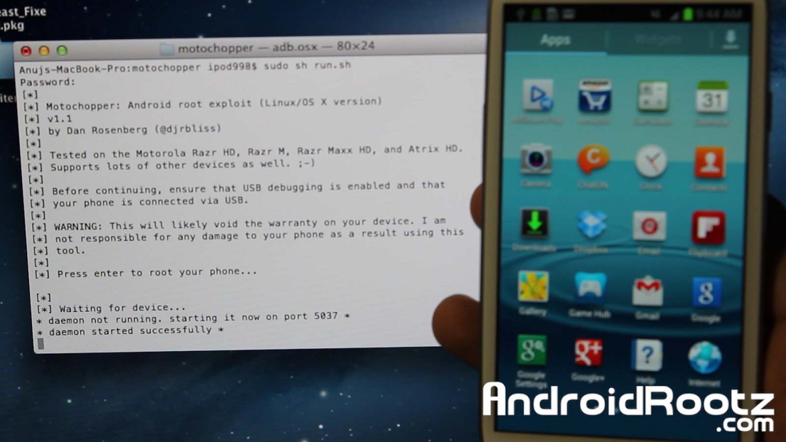 How to Root Galaxy S3 on Mac OSX/Linux/Ubuntu! [Jelly Bean