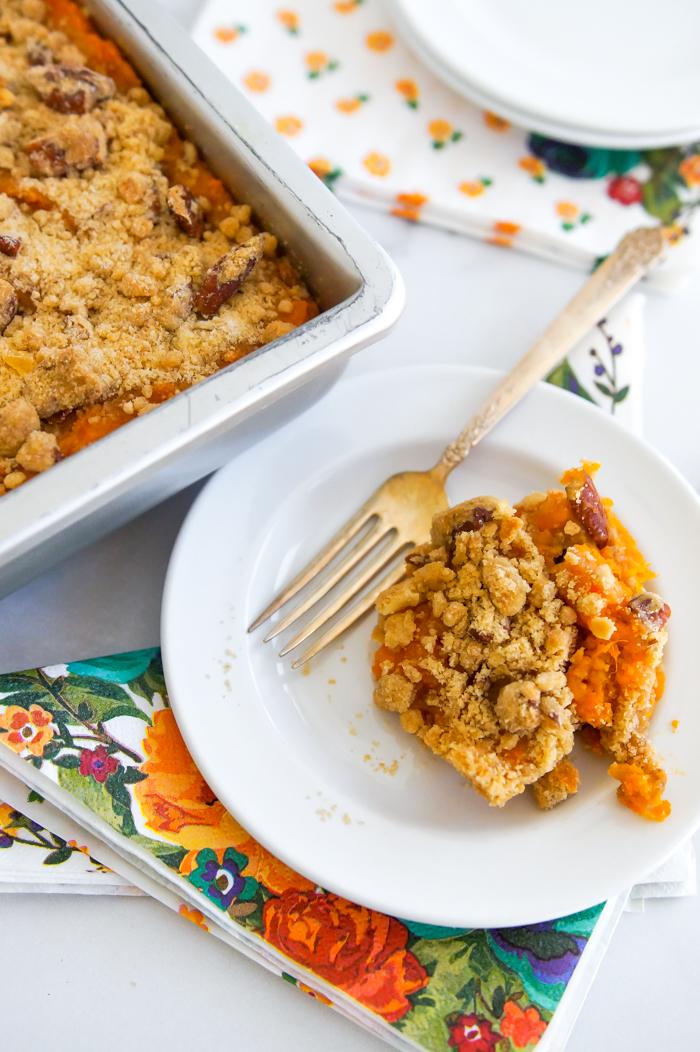 pecan streusel sweet potato casserole