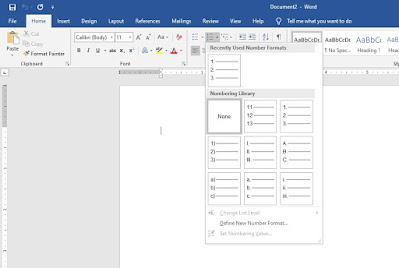 Membuat Nomer Dan Tabel Di Microsoft Word