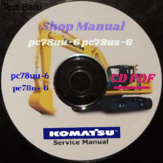 Shop manual pc78uu-6 pc78us-6 excavator komatsu