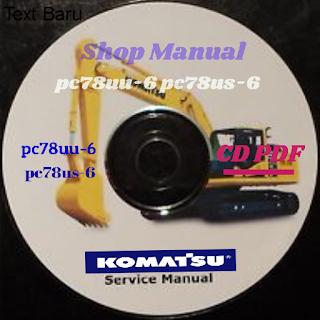 Shop manual pc78uu-6 pc78us-6 excavator komatsu
