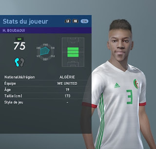 PES 2019 Faces Hicham Boudaoui By TiiToo Facemaker
