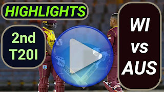 WI vs AUS 2nd T20I 2021