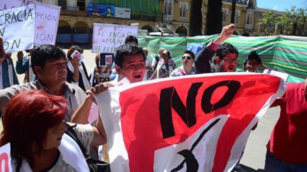 Protestas contra la reelección de Evo Morales