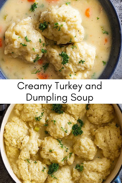 Creamy Turkey Dumpling Soup