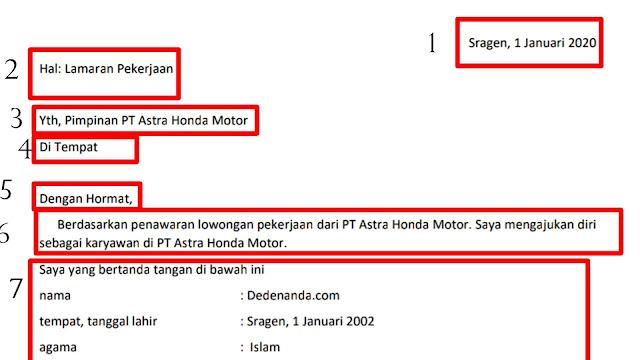 Cara Membuat Surat Lamaran Pt Astra Honda Motor Tulis Tangan