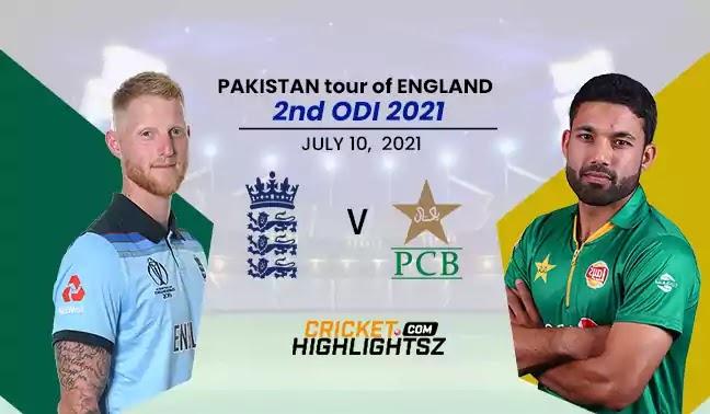 England vs Pakistan 2nd ODI 2021