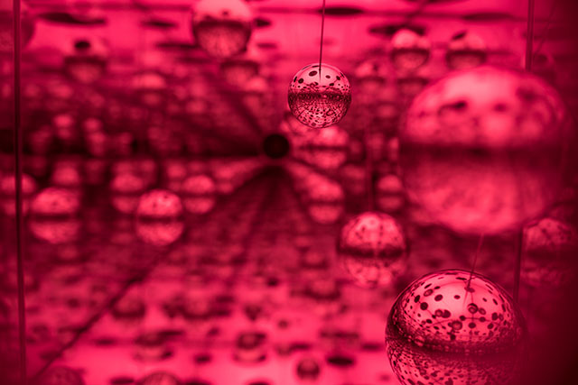 Yayoi Kunama Infinity Rooms, Hirschhorn Museum, Washington DC, Smithsonian Exhibit, Travel Blog, Phalli's Field, Love Forever, The Souls of Millions of Light Years Away, Dots Obsession - Love Transformed Into Dots, Aftermath of Obliteration of Eternity, All The Eternal Love I Have for the Pumpkins, Obliteration Room