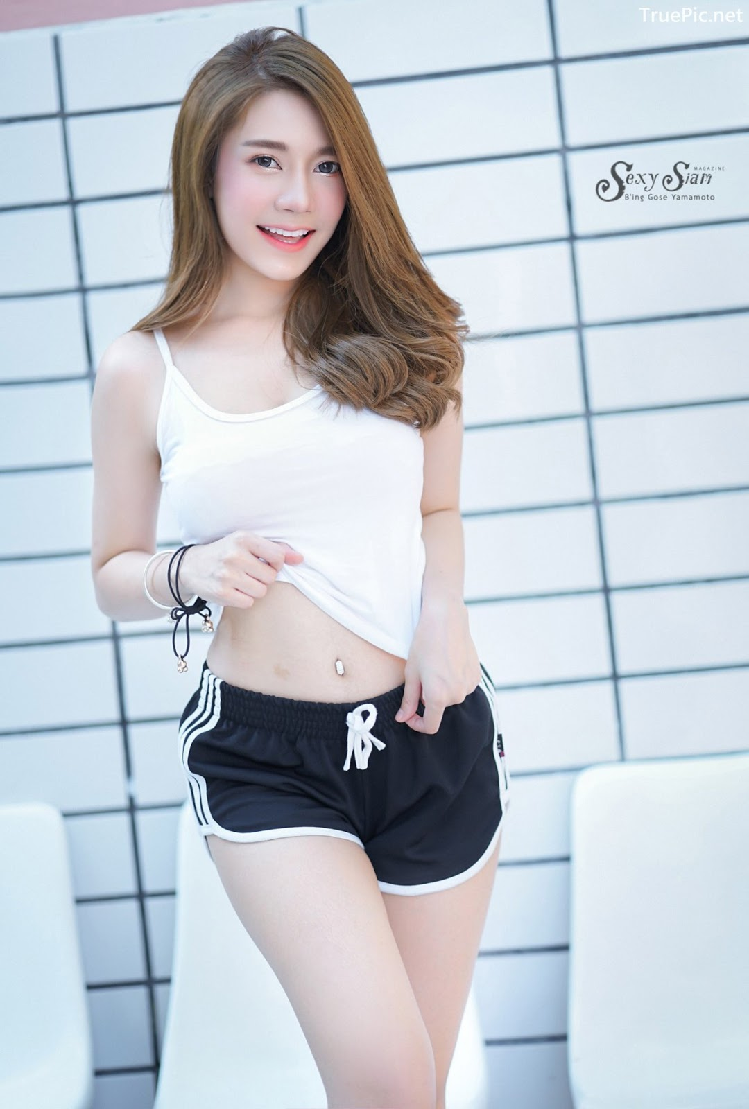 Image Thailand Model - Sasipa Tungmay Jibkrapong - White Crop Top - TruePic.net - Picture-9