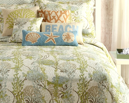 Botanical Coastal Quilt Set