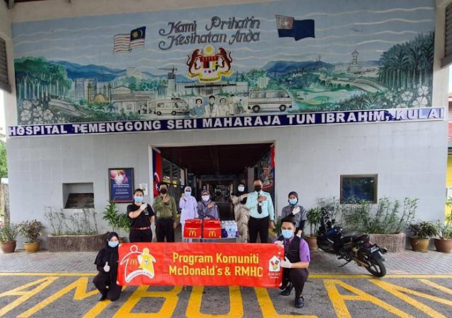 McDonald's Malaysia Appreciates Our Medical Frontliners, #KitaBoleh, CSR, McDonald's Malaysia, Hospital Tampin, Hospital Bentong, Hospital Sultan Ismail, Johor Bahru, Hospital Likas, Hospital Temenggong Seri Maharaja Tun Ibrahim, Kulai, Johor, Lifestyle