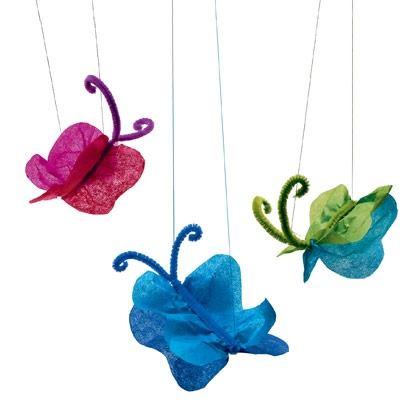 Craft: Tissue Paper Butterflies