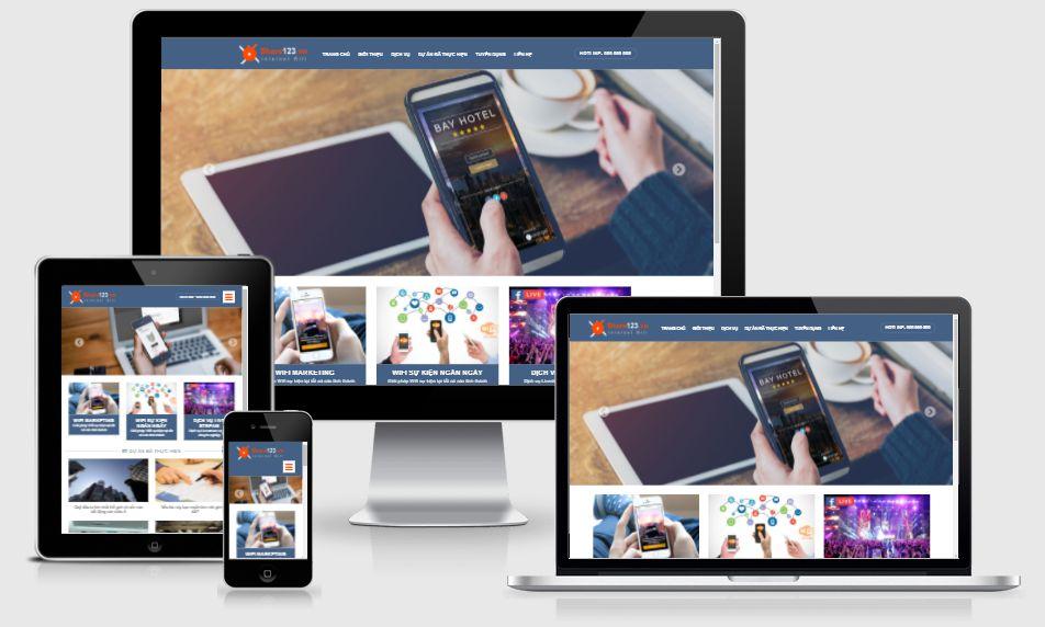 Mẫu themes blogger giới thiệu sản phẩm đẹp, chuẩn seo 00069