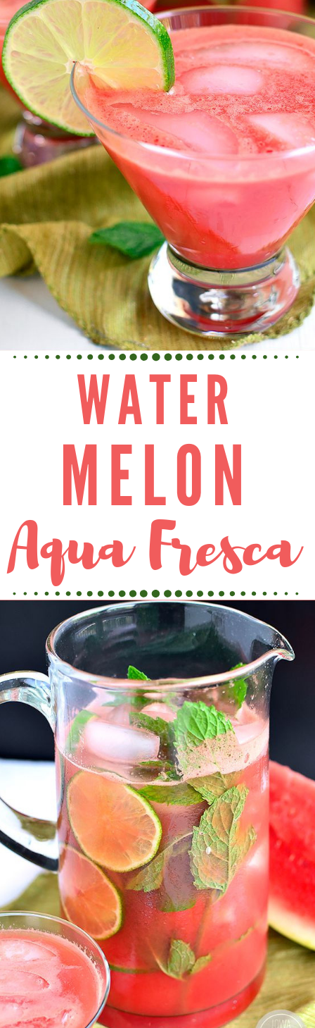 Watermelon Agua Fresca #aqua #drink #water #smoothie #watermelon
