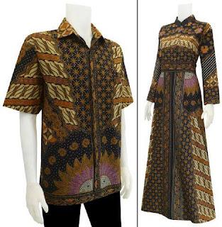 Baju Batik Gamis Sarimbit Motif Sinaran