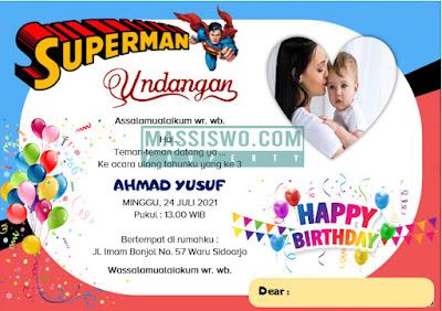 kartu undangan ulang tahun