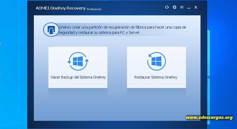 AOMEI OneKey Recovery Full Activado