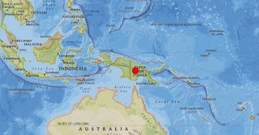 TERREMOTO EN PAPÚA NUEVA GUINEA de Magnitud 7.5 - Alerta de Tsunami (Hoy Domingo 25 Febrero 2018) Sismo Temblor EPICENTRO - Tierras Altas - Porgera - USGS