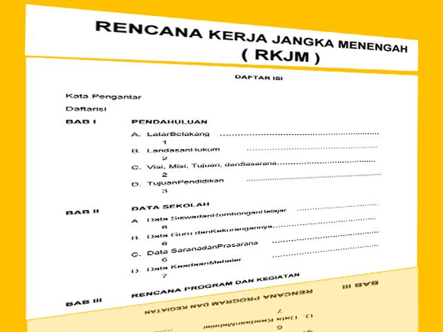 Contoh Program Laporan KTSP  Plus RKT, RKAS, RKJM Gratis