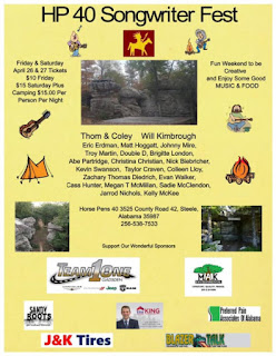 Photo of HP 40 Songwriter Fest poster at Horse Pens 40