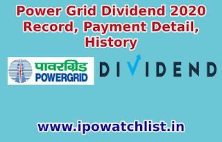 powergrid dividend 2020