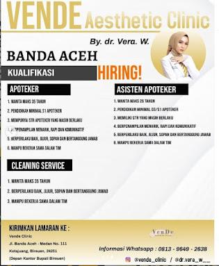 Recruitment VenDe Aesthetics Clinic Cabang Banda Aceh