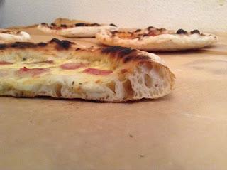 pizza napoletana bianca forno di casa