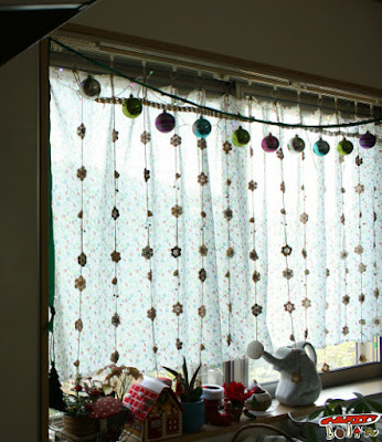 クリスマス窓飾り