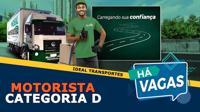 Ideal Transportes abre vagas para Motorista Categoria D
