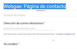 crea un formulario de Google
