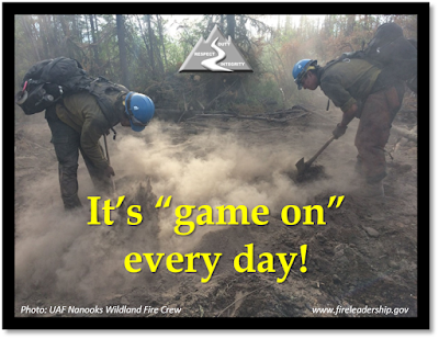 "It's ""game on"" every day! [Photo: UAK Nanook Wildland Fire Crew]"