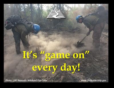 "It's ""game on"" every day! [Photo: UAK Nanook Wildland Fire Crew]"