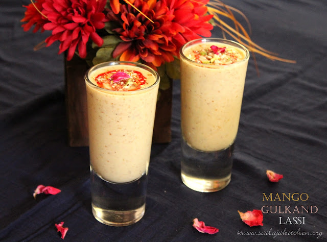 images of Mango Gulkand Lassi / Mango Gulkandh Lassi - Summer Recipes