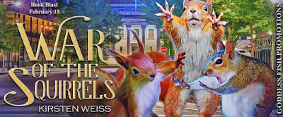 Goddess Fish tour banner for War of the Squirrels