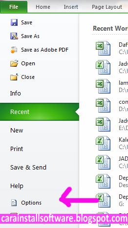 Cara Instal Terbilang Excel