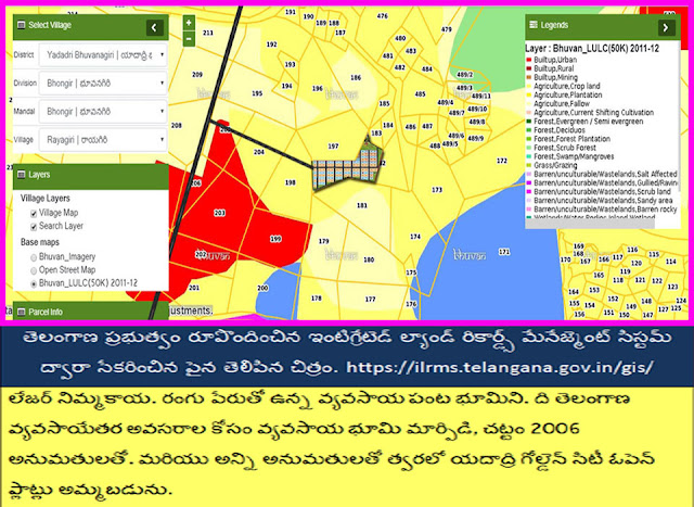 Rayagiri Village, Bhongir Mandal Survey No.197 & 182.