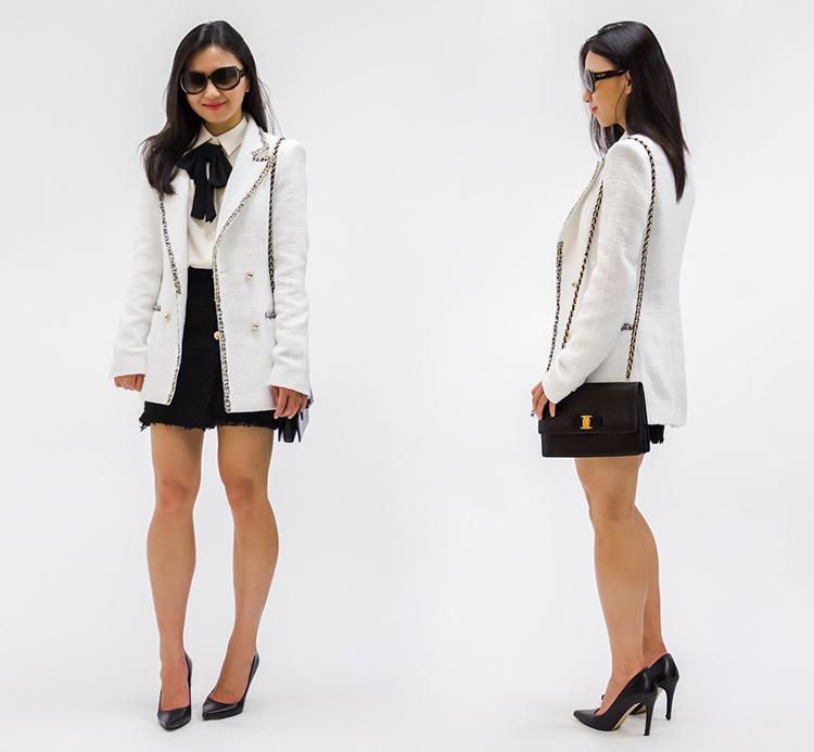 Double Breasted Tweed Jacket Elle Blogs