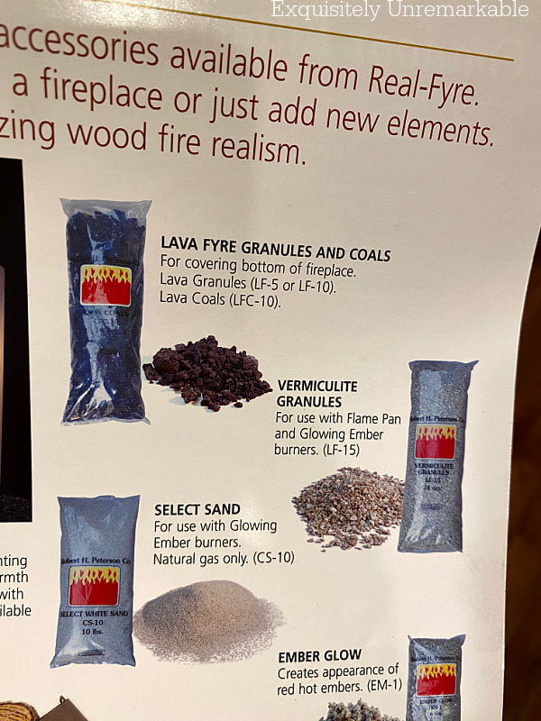 Gas Fireplace Lava Coals in catalog