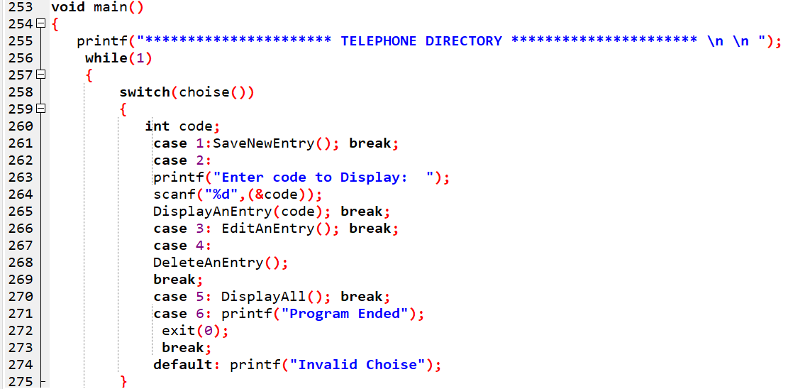 Computerized Telephone Directory