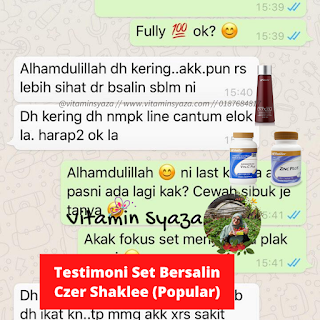 Testimoni Set Bersalin Shaklee Caesarean Czer Popular