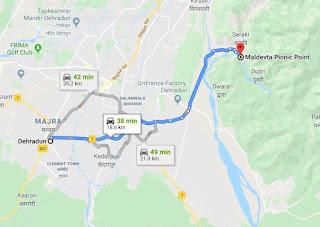 Map to reach Mal Devta