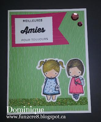 BFF Card Best Friends Forever Girls français carte www.fun2cre8.blogspot.ca